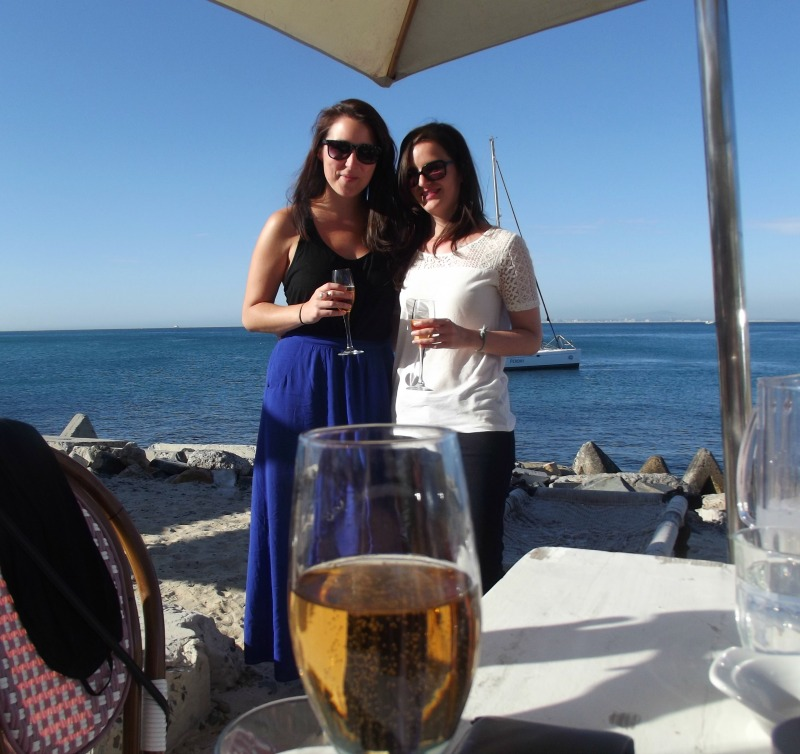 champagne by the beach 1