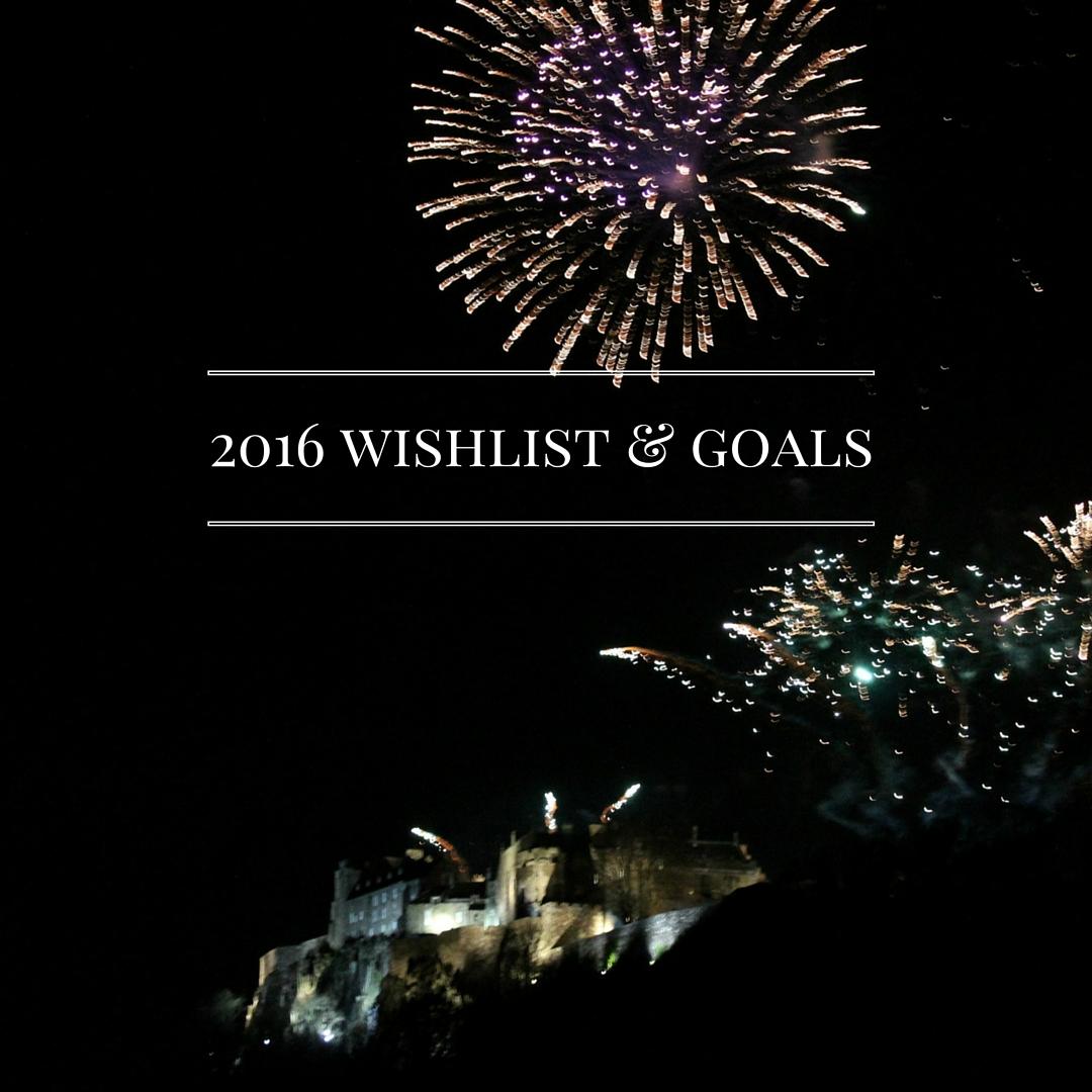 2016Wishlist & Plans