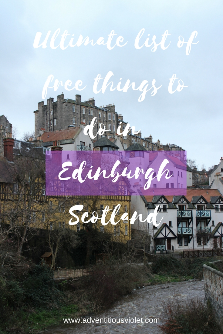 Free things Edinburgh Pinterest