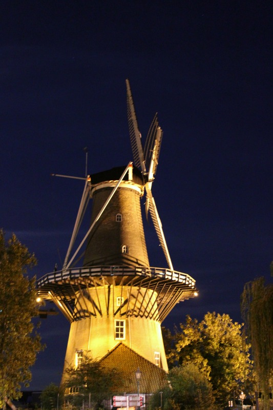 leiden windmill night