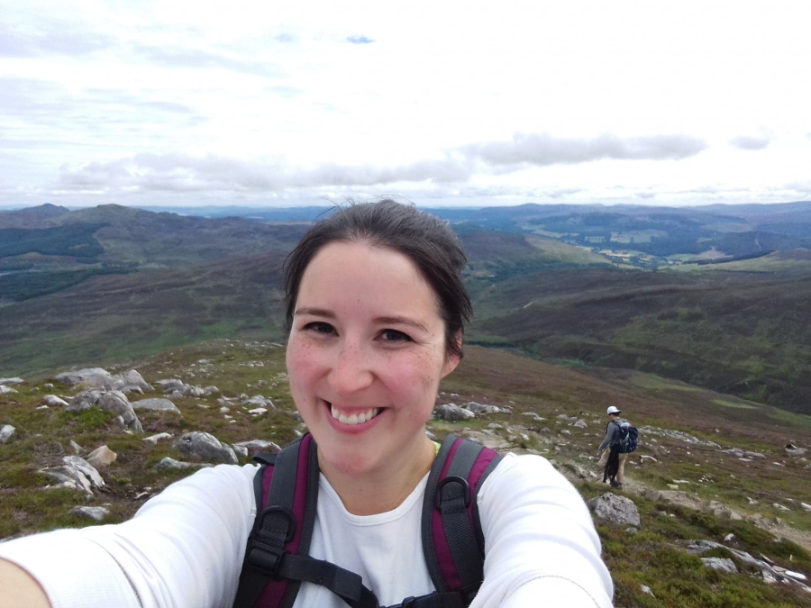 hiking schiehallion selfie