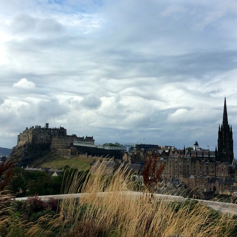 view from the national museum in edinburgh