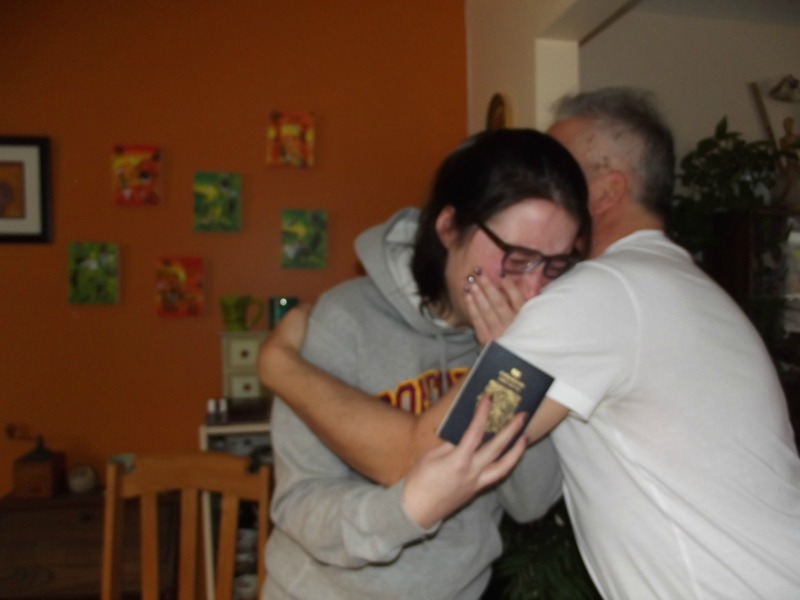 receiving my visa reaction
