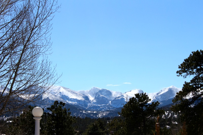 Estes Park view from Stanley Hotel