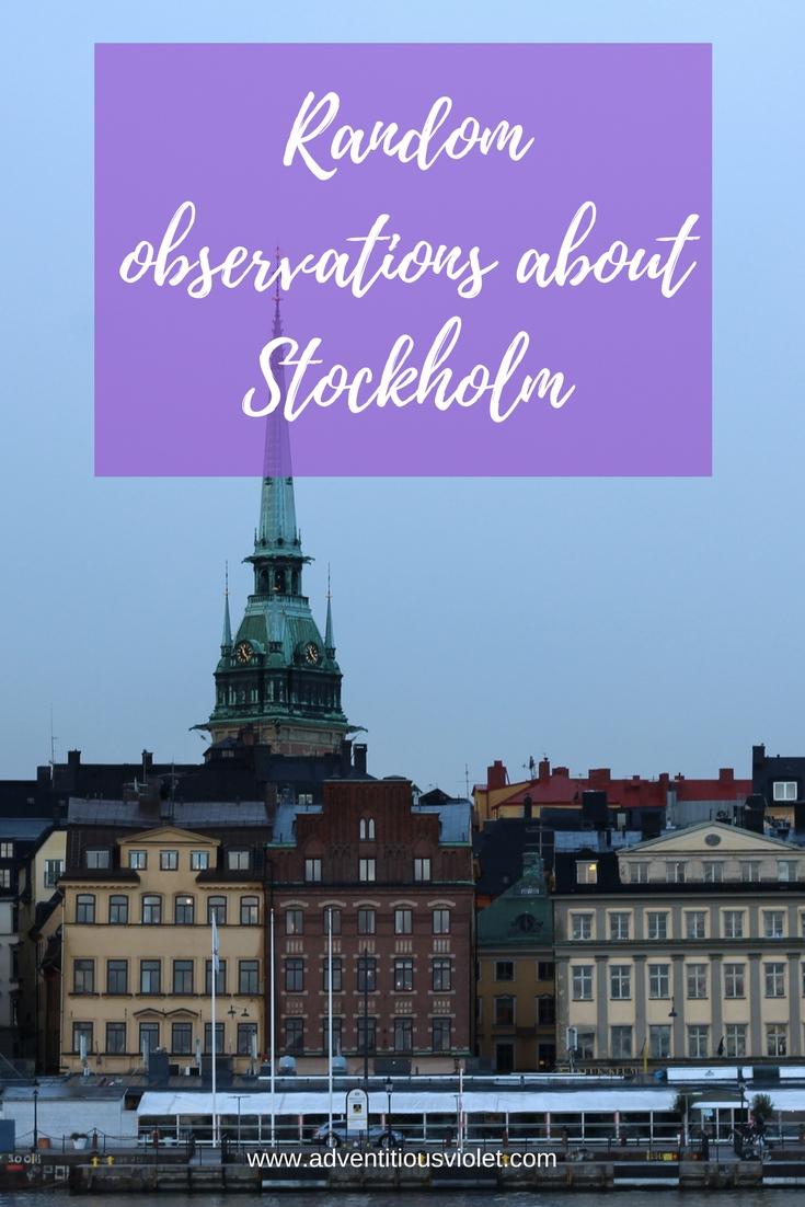 random observations about stockholm