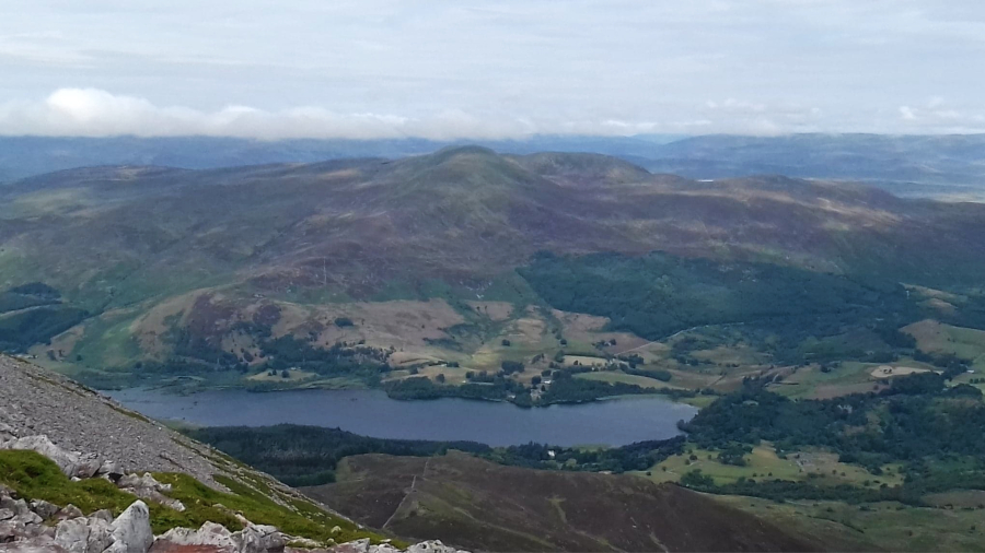 hiking schiehallion view from the top